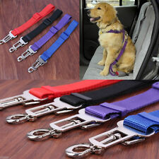 Adjustable Dog Safety Seat Belt Restraint For Car Pet Lead Travel Clip UK STOCK