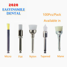 100pcs Dental Lab Disposable Polishing Prophy Brush For Slow Speed Handpiece