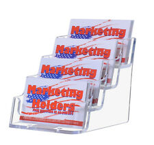 4 Pocket Desktop Business Card Display Holder Countertop Wholesale Qty 54