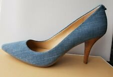 Michael KORS FLEX MID HEEL CLASSIC WASHED DENIM POINTY TOE PUMPS I LOVE SHOES