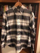 BROOKS BROS BLACK FLEECE x THOM BROWNE Plaid Print OXFORD CLOTH Dress Shirt BB-3