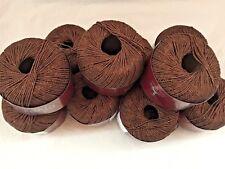 10 gomitoli cotone/viscosa color marrone