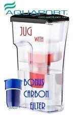 Aquaport Caffe Water Filter Jug (AQP-JUG-WS) with BONUS Filter
