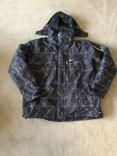 Mens Salomon Ski Jacket Clima Pro Black White Yellow Size XL