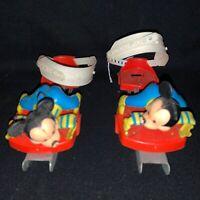 Vintage Kids Adjustable 2 Blade  Mickey Mouse Ice Skates 1970's Disney