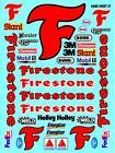 FIRESTONE - WHITE VINYL Sticker Gang SHEET 47-R/C MODEL Decals 1/12-1/10-traxxas
