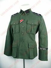 WWII German M40 Field-grey Wool Field Tunic (with full set of insignia) M