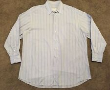Ermenegildo Zegna Mens Dress Shirt Striped 100% Cotton  size L  45 / 17.5