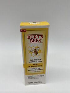 Burt's Bees Skin Nourishment Eye Cream With Royal Jelly New In Box