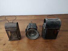 lot de trois petites lanternes anciennes lampes