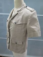 "The Kooples Military Inspired Short Sleeve Jacket ""F Heswall"" Fits Size M"