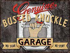 Busted Knuckle Garage Nostalgic Vintage Retro Metal Tin Sign Wall  Man Cave