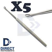 X5 Ear Cleaner Pick Wax Remover Earpick Curette Loop Billeau Earwax Removal Tool