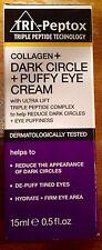 NIB Tri-Peptox Triple Peptide Collagen + Dark Circle + Puffy Eye Cream 0.5 fl oz