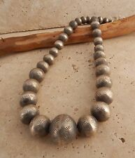 Vintage Highly Collectible  .925 Silver Navajo Pearls Necklace by Virginia Tso