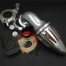 Bullet Air Cleaner For 08-12 Harley Dyna Electra Glide Flhx Road King Chrome