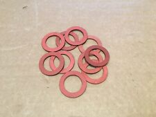 Qty 10 x Red Fibre Washers OD 1 1/2 inch  ID 1 inch Thickness 1.5 mm