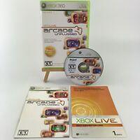 Xbox Live Arcade Unplugged Vol. 1 (Microsoft Xbox 360 2006) w/ Xbox Live Card