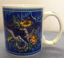 Hilo Hattie Maui Hawaiian Blue Whale Hibiscus Flowers Coffee Mug