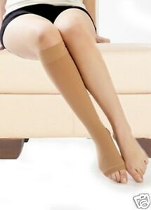 Class 2 High Pressure Medical support tights socks stockings  30-40mmhg Tan