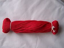 20m 2.6mm strong waterproof braided polypropylene red cord / rope / string *****
