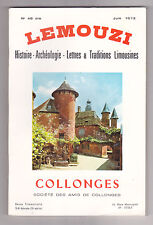LEMOUZI N°46 bis juin 1973 COLLONGES Histoire Archéologie Lettres & traditions