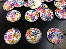 "SUPER CUTE! 100 FLOWER BUTTONS 15/MM 5/8"" 2hole"
