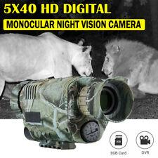 Infrared 5X40 Hd Digital Night Vision Telescopes Scope Hunting Monocular Camera