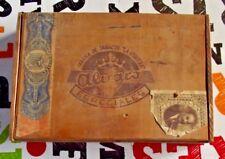 Ancienne Boîte Coffret Vide alvaro tabacs la vaguera cigare tabatière objet bois