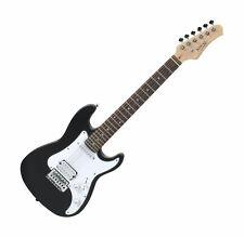 Rocktile Kindergitarre 3/4 E-Gitarre 4-Saiten Holz Gitarre mit Tasche Schwarz
