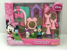 DISNEY  Minnie Mouse Bow-tique Paw Pack Fisher Price Play Set  Easter Spring NEW