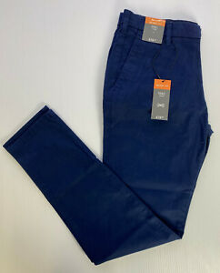 """M&S FRENCH NAVY SKINNY FIT STRETCH Cotton Trousers W30"""" L33"""" Long RRP £19.5"""