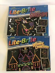 Lite Brite Scooby Doo & Wizard Creations Picture Refill Sets New In Packaging