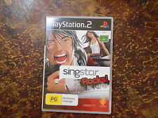 PS2 GAMES - SINGSTAR ROCKS WITH MANUAL - EYE TOY COMPATIBLE  V GD COND