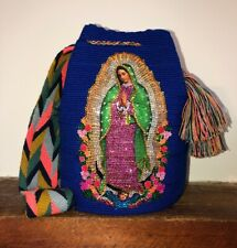 Authentic Wayuu Mochila Bag Luxury Our Lady Of Guadalupe bling Mothers day Ideas