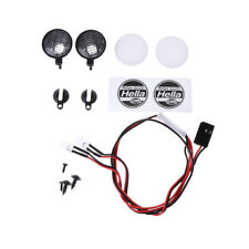 2Pcs Round LED Light With Cover for 1/10 RC SCX10 D90 Crawler HSP RC Car Parts