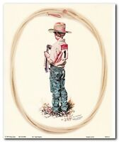 Vintage Western Rodeo Cowboy Wall Decor Art Print Poster (16x20)