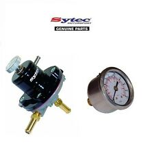 SYTEC MSV RACING FUEL PRESSURE REGULATOR - ADJUSTABLE 2-6 BAR (BLA) + FUEL GAUGE