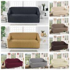 KOM Housse de canapé Salon Couverture Extensible 3 places 2 chaise  Spandex KOM