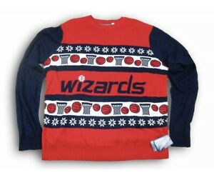 Forever Collectibles NBA Washington Wizards Christmas Ugly Sweater Women XL New