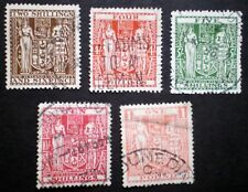 New Zealand Postal fiscal stamps small group of used stamps