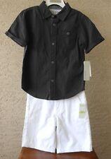 Calvin Klein Jeans Little Boy Size 5 Button Front Shirt Shorts 2 Piece Set