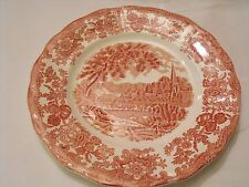 "Royal Worcester Palissy Avon River Scenes Pink Red  10"" Plate"
