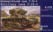 1/72 WWII Soviet Artillery tank T-26-4  UM 315 Models kits