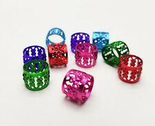 Dread Lock Beads Colorful Metal Hair Accesories Jewelry Filigree Dreadlocks 10mm