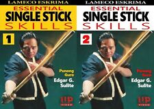 2 Dvd Set Lameco Eskrima Essential Single Stick Skills Martial Arts Edgar Sulite