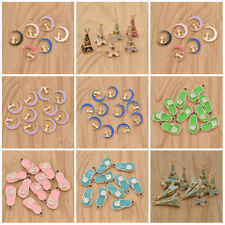10pcs Cartoon Shoes/Cat/Eiffel Tower Charms Jewelry Making Pendant Bead Necklace