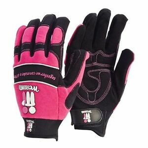 McGrath Foundation Pink Mechanics Work Gloves Contego Synthetic Leather