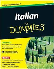 Italian For Dummies Learn To Speak Quickly 2nd Edition Paperback