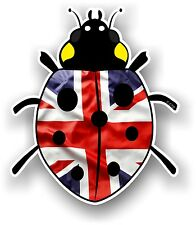 BELLISSIMO design COCCINELLA LADYBUG con British Bandiera Union Jack Auto Adesivo Decalcomania